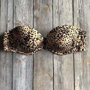 VS Animal Print Bio Fit Strapless Bra size 32B